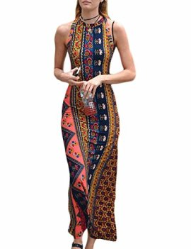 7104449898f Celltronic Women Off Shoulder Backless Floral Print Maxi Long Dress(S)