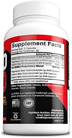 Rapid Keto Diet Pills | Advanced Ketogenic Diet Weight Loss Supplement | BHB Salts Exogenous Ketones Capsules for Men & Women | Fast & Effective Ketosis Diet Fat Burner | Instant Keto Boost | 60 4