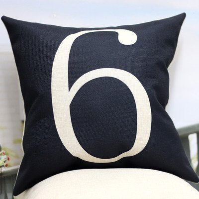 stGolez Easy lucky number six ynd2534 Cotton Linen Throw Pillow Case Cushion Cover Home Sofa Decorative 18 X 18 Inch