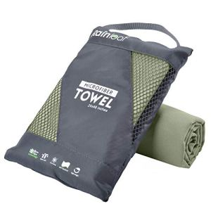 Rainleaf Microfiber Towel Perfect Sports & Travel &Beach Towel. Fast Drying – Super Absorbent – Ultra Compact. Suitable for Camping, Gym, Beach, Swimming, Backpacking.