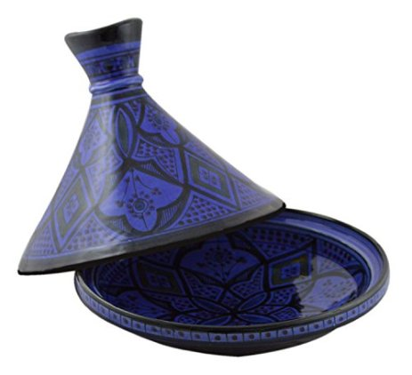 Moroccan-Handmade-Serving-Tagine-Exquisite-Ceramic-With-Vivid-colors-Traditional-12-inches-Across-X-Large