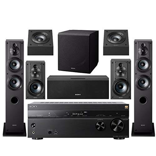 Sony 7.2 Dolby Atmos Wi-Fi 4K Network AV Surround Home Theater Receiver (STRDN1080) with Complete SONY 8 Speaker System