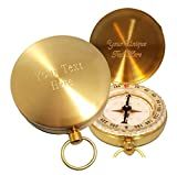 Stanley London Engraved Solid Brass Wilderness Scouting Compass (Front and Inside)