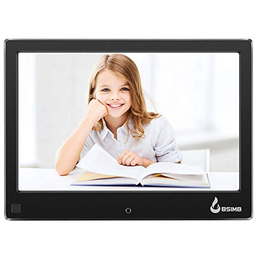 BSIMB Digital Picture Frame Digital Photo Frame 8' LCD IPS Display Hi-Res Digital Photo & HD Video Frame Motion Sensor and USB/SD Card Playback Infrared Remote Control M22