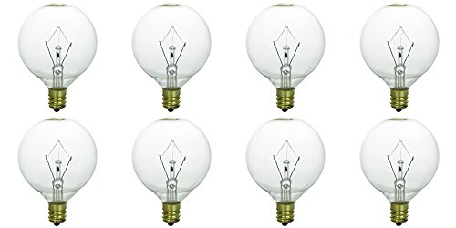 25 Watt Bulbs for Scentsy Full-Size Warmers, KE-25WLITE Extra Long Life, 25W 120 Volt, Pack of 8