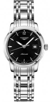 41MIrksUNNL Polished Stainless Steel case 30mm case dimension Black with Date at 3 dial