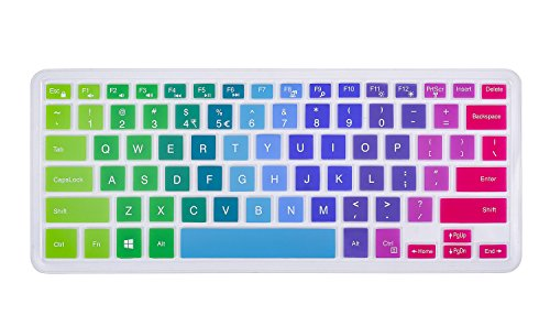 Keyboard Cover for 13.3' Dell Inspiron 13-5368 i5368 13-7368 i7368 13-7368 i7378, 15.6' Dell XPS 15-9550, 15.6' Inspiron 15-5568 i5568 15-5578 i5578 15-7568 15-7569 i7568 i7569 i7579, Rainbow
