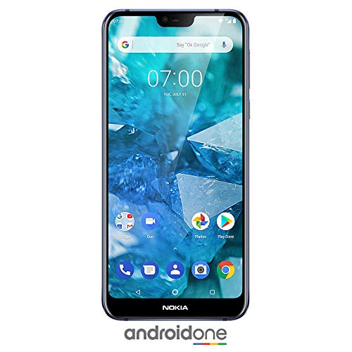 Nokia 7.1 - Android 9.0 Pie - 64 GB - 12+5 MP Dual Camera - Dual SIM Unlocked Smartphone (at&T/T-Mobile/MetroPCS/Cricket/H2O) - 5.84' FHD+ HDR Screen - Blue - U.S. Warranty
