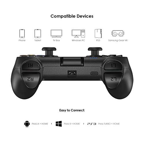 GameSir T1 Wireless Bluetooth Game Controller for Android, USB Wired ...