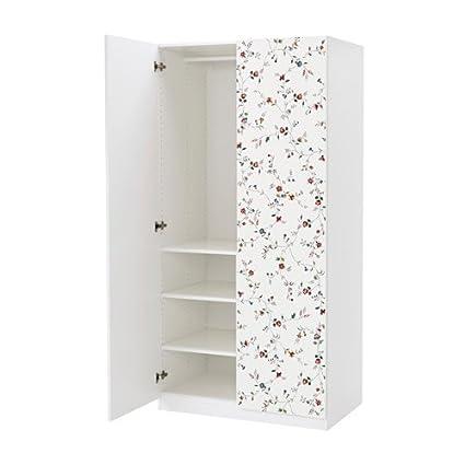Ikea Wardrobe White Marnardal Floral Patterned 182042658