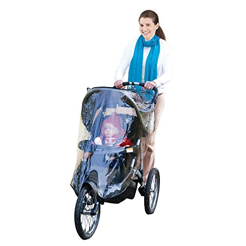 Jeep Jogging Stroller Weather Shield, Baby Rain Cover, Universal Size to fit most Jogging Strollers, Waterproof, Windproof, Ventilation,Protection, Pram,Vinyl, Clear, Plastic