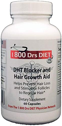 DHT Blocker and Hair Growth Aid - Naturopathic Formula for Longer, Stronger, Healthier Hair - Scientifically Formulated with Biotin, Saw Palmetto, Fo-Ti Root and More