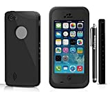 5C case,Emilys iPhone 5C case,Emilys Durable Waterproof Dustproof Snowproof Shockproof Protective Case Cover for iPhone 5C(Black)