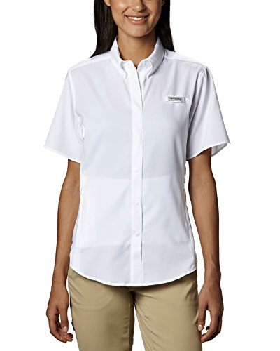 Columbia Women's Tamiami II Short Sleeve Fishing Shirt (White, Large)