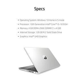 2020-HP-14-HD-LED-Premium-Laptop-10th-Gen-Intel-Core-i5-1035G4-up-to-37GHz-4GB-DDR4-128GB-SSD-USB-Type-C-HDMI-Windows-10-Silver