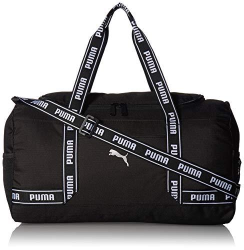 PUMA Women's Commute Duffel, black/White, One Size