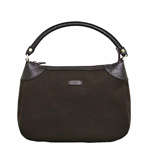 41MSM%2ByQaKL Canvas and Guccissima Leather Top zip closure; Interior pocket Measurements: 12.5 L x 9.5 H x 4.5 W inches - Handle drop: 6 inches