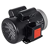 Mophorn 1.5 Hp Electric Motor with Flange Rated Speed 3450 RPM Single Phase Motor AC 115V 230V Air Compressor Motor Suit for Agricultural Machinery and General Equipment