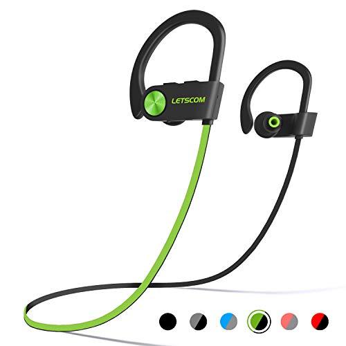 LETSCOM Bluetooth Headphones IPX7 Waterproof,...
