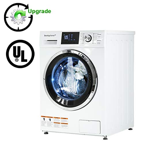 Washer/Dryer Combination TurboWash 2.7Cubic. ft. Capacity Compact Laundry 24' Electric Dryer and Washer Stainless Steel Drum With FourTransport Bolts,White
