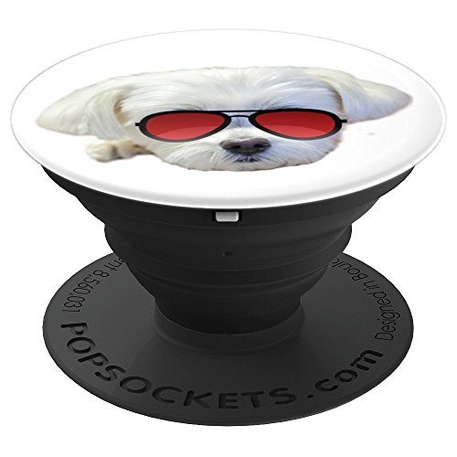 Cute Maltese Dog PopSockets Grip Stand for Phones Tablets - PopSockets Grip and Stand for Phones and Tablets