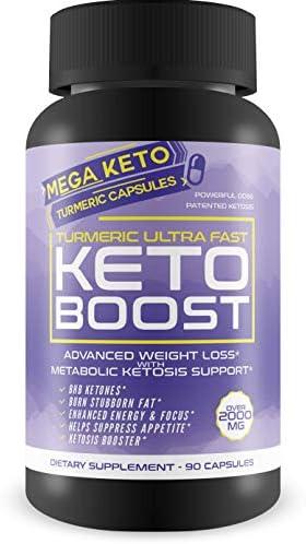 Turmeric Ultra Fast Keto Boost - 2180 MG Keto Max Power Formula - Reduce Appetite - Balance Metabolism - Release Fat Stores - Keto Boost Keto Pills - Keto Bhb Turmeric & Ginger Capsules 3