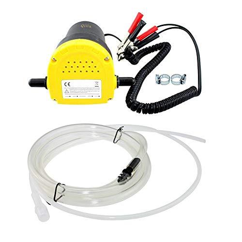 Qiilu 12V 60W Oil/Diesel Fluid Pump Extractor Scavenge Oil Change Pump Transfer Suction Transfer Pump + Tubes for Auto Car Boat Motorbike Truck RV ATV Jet