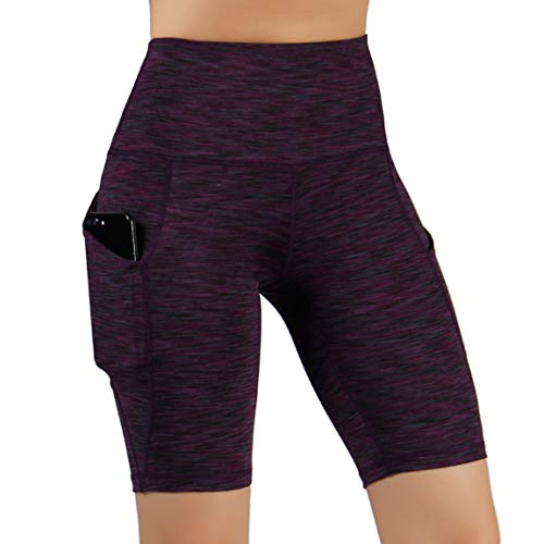 ODODOS High Waist Out Pocket Yoga Short Tummy Control Workout Running Athletic Non See-Through Yoga Shorts 1 Fashion Online Shop Gifts for her Gifts for him womens full figure