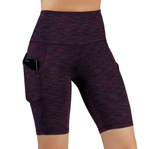 ODODOS High Waist Out Pocket Yoga Short Tummy Control Workout Running Athletic Non See-Through Yoga Shorts 16 Fashion Online Shop Gifts for her Gifts for him womens full figure