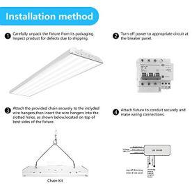 CINOTON-4FT-Linear-LED-High-Bay-Light-LED-Shop-Light-Fixture-223W-28990lm-1-10V-dimmable-5000K-750W-Fluorescent-Equiv-Motion-Sensor-Optional-Indoor-Commercial-Warehouse-Area-Light-223W-2-Pack