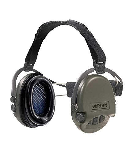 Sordin-Supreme-PRO-Neckband-Safety-Ear-Muffs-Active-Hearing-Protection-Perfect-for-Helmets-SNR-25dB-Green-76302