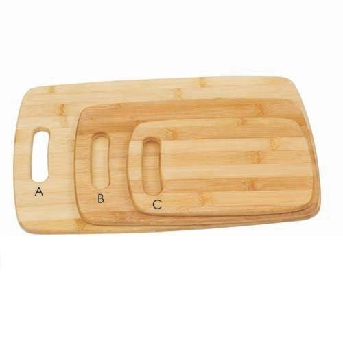 Danny's World Bamboo Premium 3 Piece Cutting Board Set