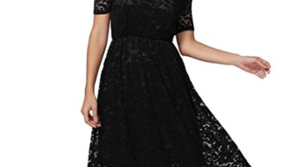 Twinsmall Women Off The Shoulder Short Sleeve Lace Formal Evening Party  Side Split Maxi Dress 932ec41ab