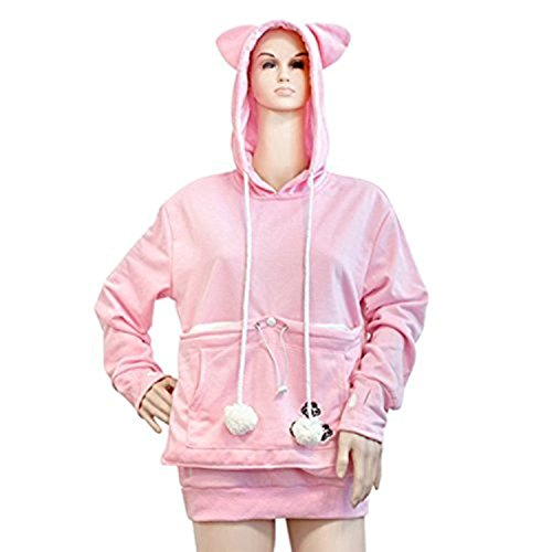 NeuFashion Pet Cat Dog Kangaroo Pouch Hoodies Pullover Sweater - Hoodie with kangaroo pouch is the perfect cat accessory