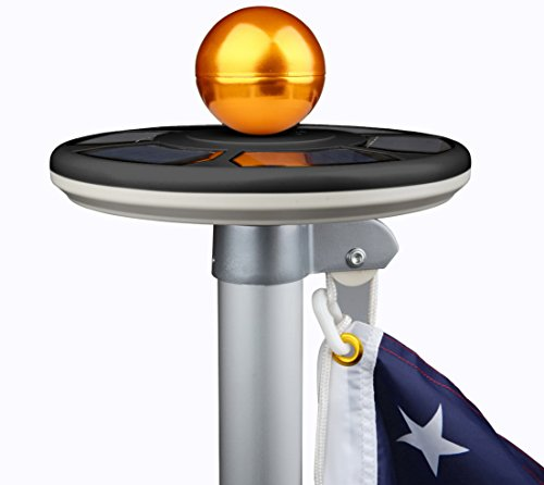 Sunnytech 2019 3rd Generation Black - Solar Power Flag Pole Flagpole Light Guarantee - Biggest Size - Best Solar Flag Light in The World
