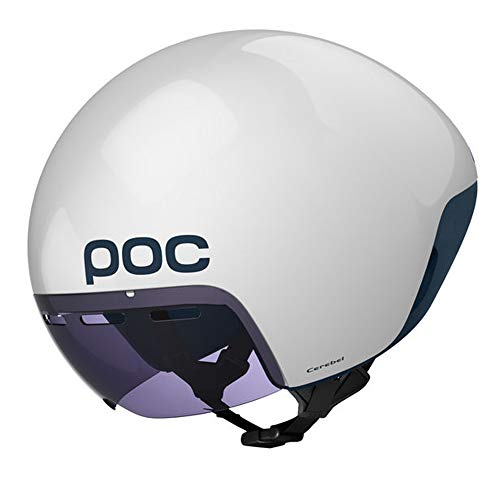 POC Cerebel, Cycling Helmet for Racing, Hydrogen White, M