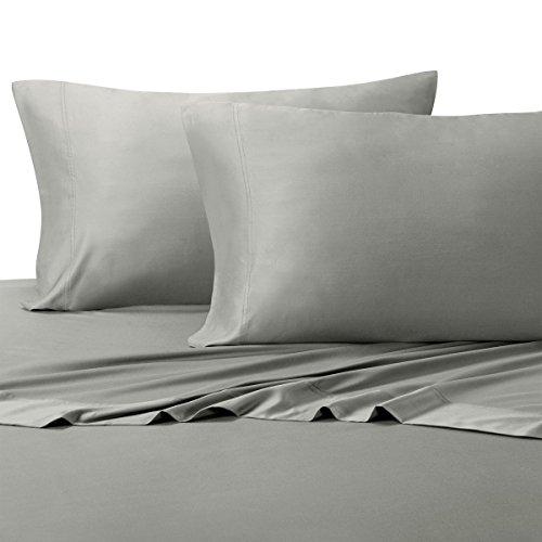 Abripedic Silky Soft Bamboo Sheets, 600 Thread Count, 100% Viscose from Bamboo Sheet Set, King, Gray
