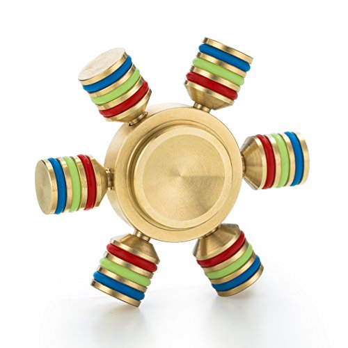 Spin Wars – 6 Sided Metallic Fid Spinner Toy Customizable Glow