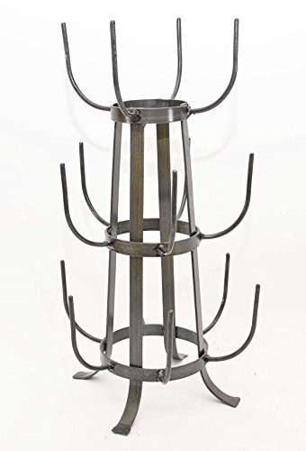Reproduction Glass or Mug Drying Rack, 20 Inches High X 11 Inches Wide-holds 15 Mugs.