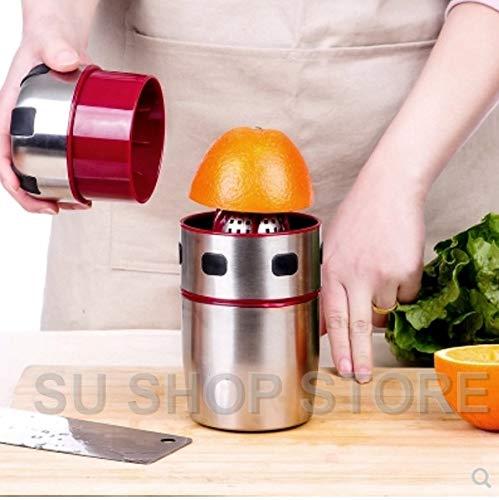 Powerful Stainless Steel Orange Juicer Portable Manual Lid Rotation Citrus Juicer Lemon Orange Tangerine Juice Squeezer