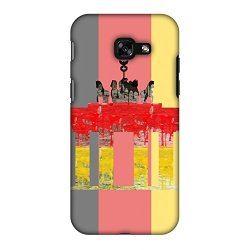 AMZER Ultra Slim Designer Snap On Hard Shell Case with Screen Cleaning Kit for Samsung Galaxy A3 2017 - The Brandenburg Gate - Germany Flag