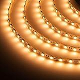 LED Strip Light Tape Light Dimmable LED Flexible Light Strip, Home LED Light Strip Cuttable (2700K Sun Warm White, 24V, 16 Ft Spool)