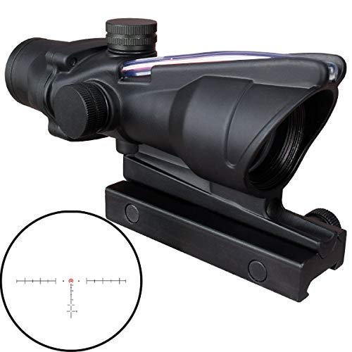 CTOPTIC 4x32 Scope Red Horseshoe Reticle Hunting RifleScopes Optic Sight Reticle Real Red Fiber