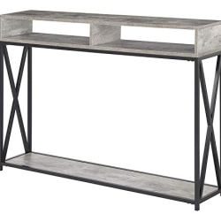 Convenience Concepts Tucson Deluxe 2 Tier Console Table, Faux Birch