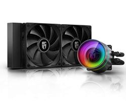DEEPCOOL Castle 240EX, Addressable RGB AIO Liquid CPU Cooler, Anti-Leak Technology Inside, Cable Controller and 5V ADD RGB 3-Pin Motherboard Control, TR4/AM4 Supported, 3-Year Warranty