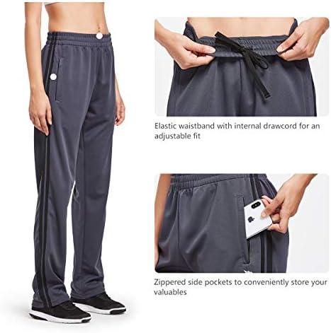 BALEAF Women's Track Pants Athletic Sports Sweat Pants Open Leg Jogger Sweatpants Zippered Pockets Lounge 4