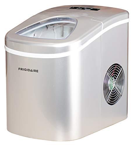 Frigidaire EFIC108-SILVER Counter top Portable, 26 lb per Day Ice Maker Machine, Silver