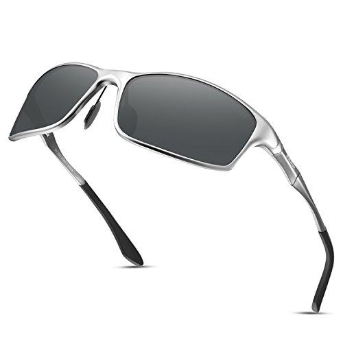 Soxick Men's Polarized Sunglasses UV400 Retro Unbreakable Metal Driving Sunglasses