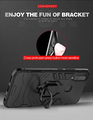 Soezit Military Grade Rugged Ring Holder Hybrid Back Cover for Vivo U20 (Red) 7