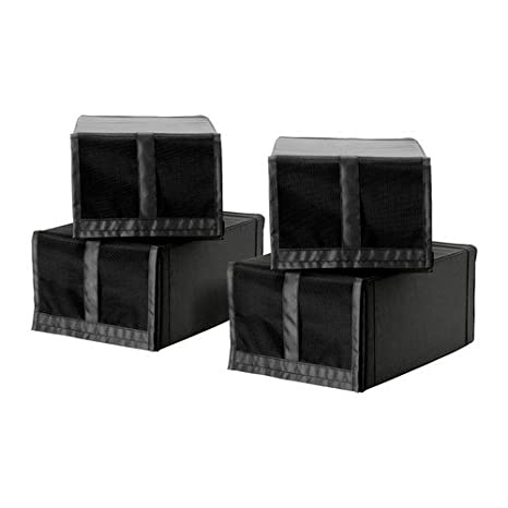 Ikea Ensemble De 4 Boîtes De Chaussure Skubb Noir